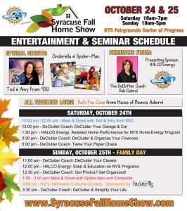 2015 Syr Fall Home Show Seminar Schedule