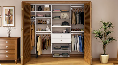 Featuring Closet Systems FreedomRail From Jay K Lumber, Elfa From The Container  Store And California Closets.