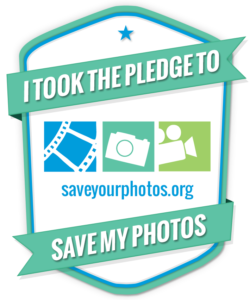 I took the pledge to save my photos logo