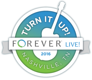 Forever Live! Nashville logo with guitar